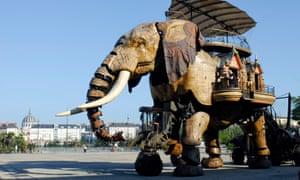 The three-storey elephant, part of Les Machines de l'île for Le Voyage à Nantes.
