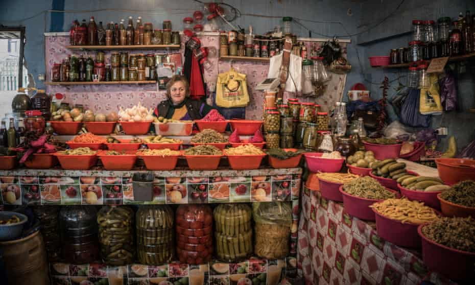 a pickle and preserve shop on a food tour of Tbilisi