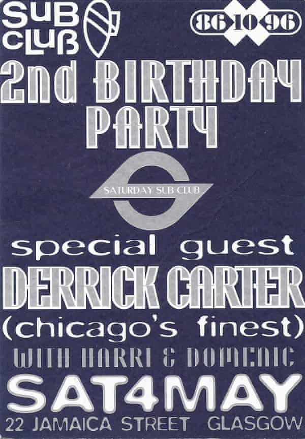 A flyer for Subculture's second birthday in 1996.