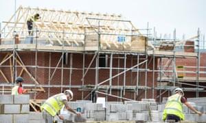 Housebuilders working