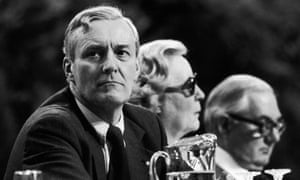 Tony Benn at the Labour party conference in Brighton, October 1979