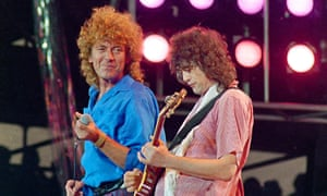 Robert Plant (left) and Jimmy Page in 1985. Led Zeppelin has been accused of lifting the riff from the band Spirit.