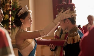 Last outing … Claire Foy and Matt Smith as Liz and Phil in The Crown.