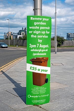 A reminder for Edinburgh residents to sign up or renew their permits for garden waste collections.