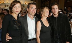 """Family business"""" Jake with his sister the actor Maggie Gyllenhall and his parents."""