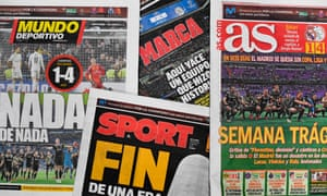 Reaction to Real Madrid's defeat to Ajax dominated in the Spanish media.