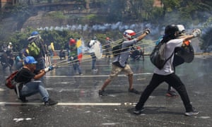 Anti-government protesters in Caracas, named the most violent city in the world in 2017.