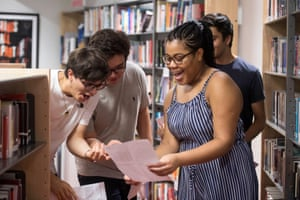 Samantha-Jo Onyekwere celebrates achieving four A*s at Harris Westminster sixth form in central London