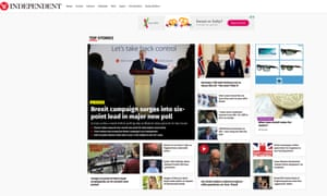 The Independent's digital audience fell in May