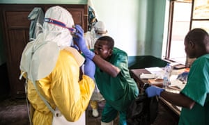 Health workers preparing to diagnose and treat suspected Ebola patients in the Democratic Republic of the Congo.