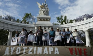 Demonstration by parents of the 43 Mexican students missing in Iguala