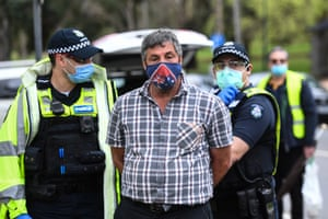 Another was detained in Melbourne during the protests.