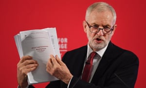 Jeremy Corbyn shows redacted documents of secret trade talks between the UK and US governments.