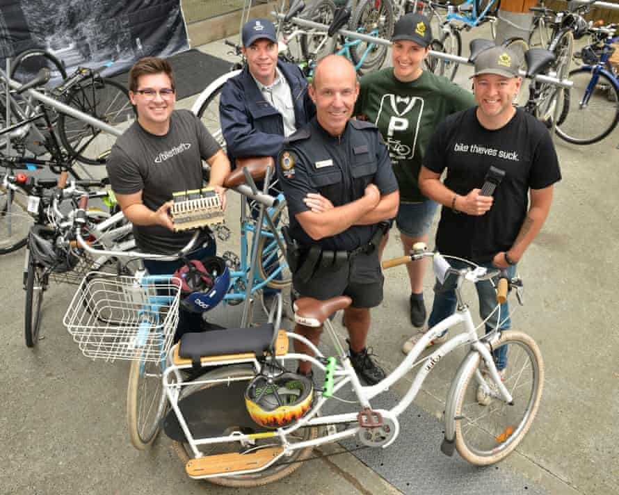 Project 529 team members on Granville Island, including J Allard, right, and Rob Brunt, front.