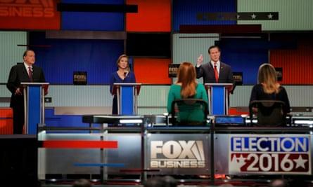 huckabee fiorina santorum republican undercard debate