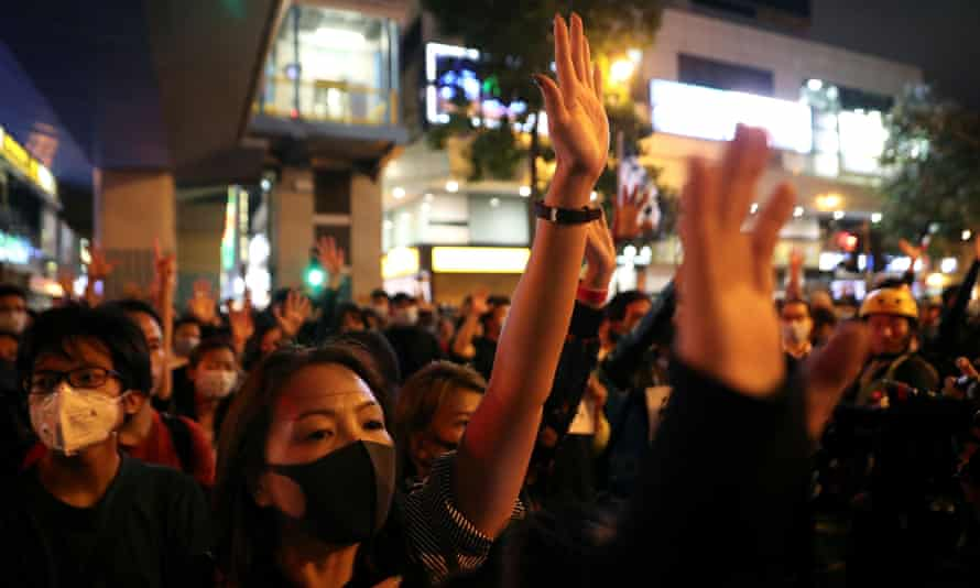 Protesters outside the Hong Kong Polytechnic University on Monday, where a number of people are still under siege.