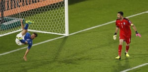 ... which is cleared off the line by Alessandro Florenzi.