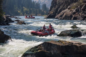 White water rafters in Beartrap Canyon in Montana, the first wilderness area to be managed by BLM