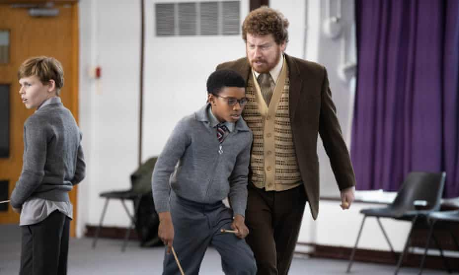 Education, from the Small Axe season, starring Kenyah Sandy as 12-year-old Kingsley, Ryan Masher as Joseph and Nigel Boyle as Mr Hamley.