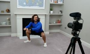 Joe Wicks kicks off a kids' fitness class on YouTube