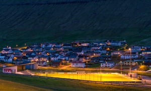 The football field in the village of Gjógv, north of Tórshavn. A top import in the 10-team Faroes League can earn up to $6,000 a month.