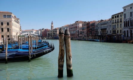 The Grand Canal, Venice, empty of traffic.