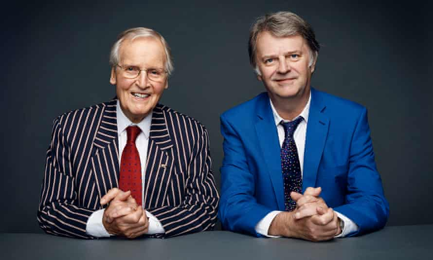 Nicholas Parsons, left, with Paul Merton on the 50th anniversary of Just a Minute in 2017.