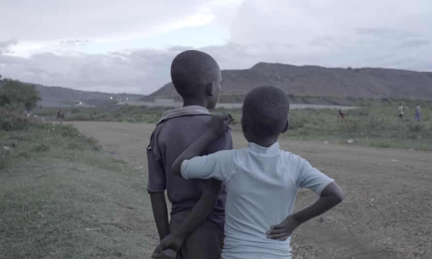 Children near the goldmine.