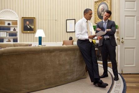 Jon Favreau, a former speechwriter for Barack Obama, in the Oval Office in 2012.