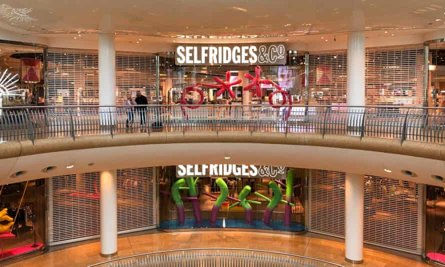 The shuttered Selfridges department store in Birmingham's Bullring shopping centre, which is owned by Hammerson.