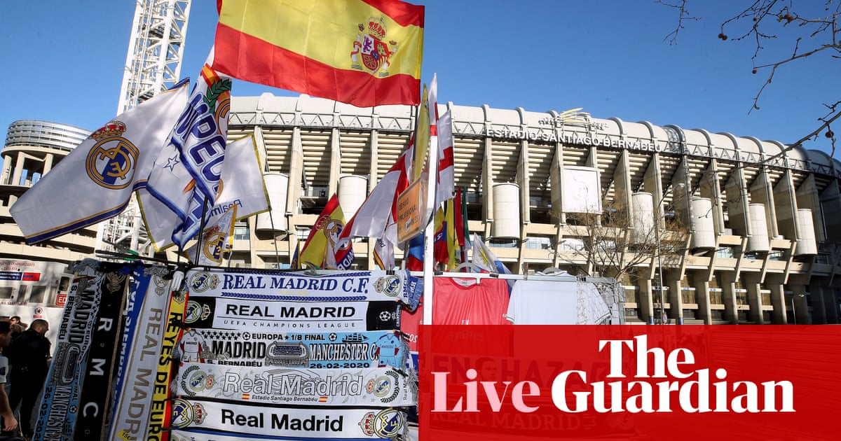 Real Madrid v Manchester City: Champions League last 16, first leg – live! - the guardian