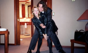Hutchence in 1990 with his then girlfriend Kylie Minogue.