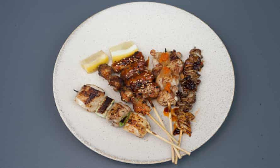 'Different parts of a chicken require a different approach in cooking' yakitori selection.