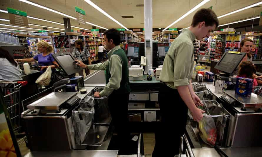 Supermarket checkouts