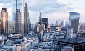 The financial district in the City of London