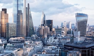 The City of London, home to the UK financial sector.