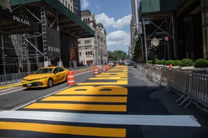 Black Lives Matter is seen painted on the street in front of Trump Tower.