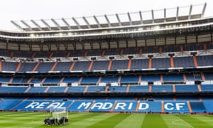 An interior view of Real Madrid's Bernabéu ground