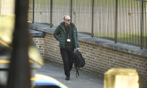 Dominic Cummings arriving for work at No 10 this morning.