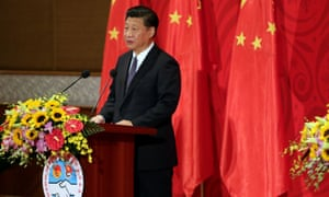 Chinese president Xi Jinping in Vietnam on Friday.