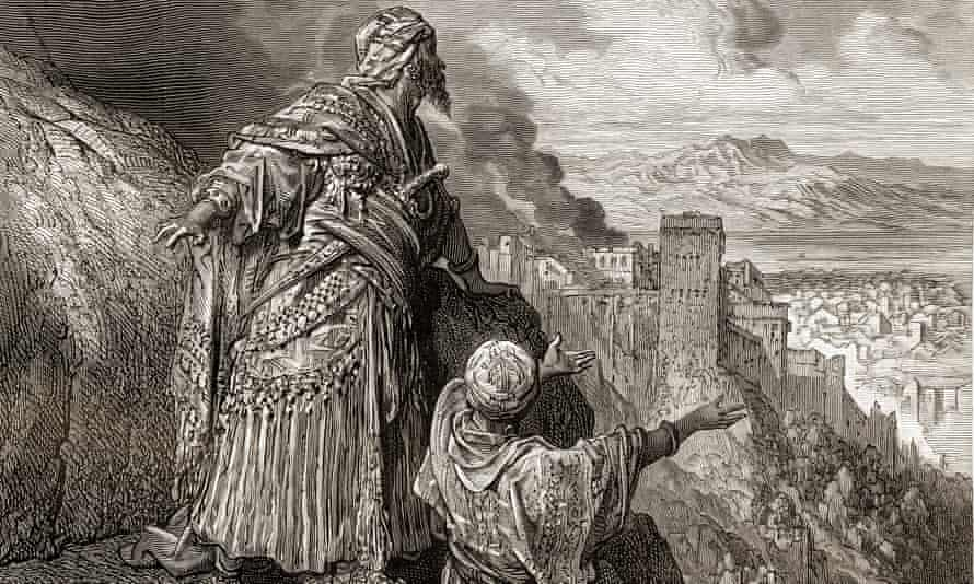 Boabdil leaves Granada in 1492.