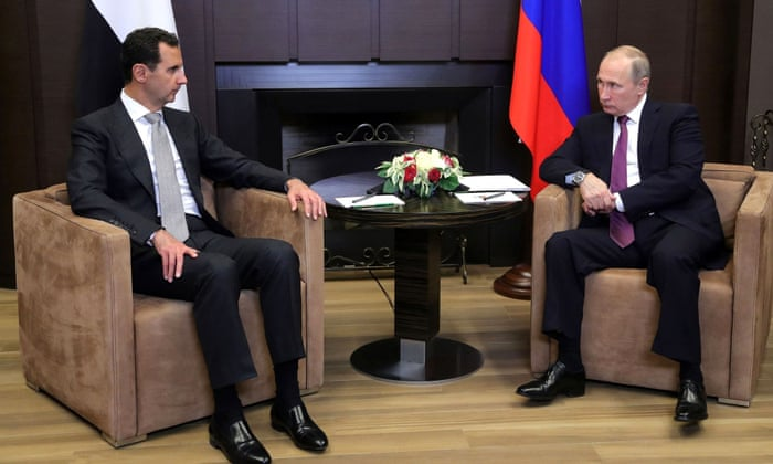 vladimir putin briefs donald trump on plan to end syrian civil war world news the guardian