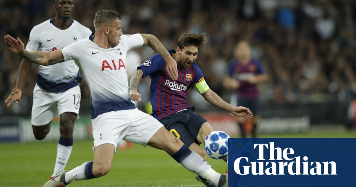 007b34628 Lionel Messi leaves Spurs toiling on a lower plane of sporting reality