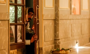 Dev Patel in the film Hotel Mumbai