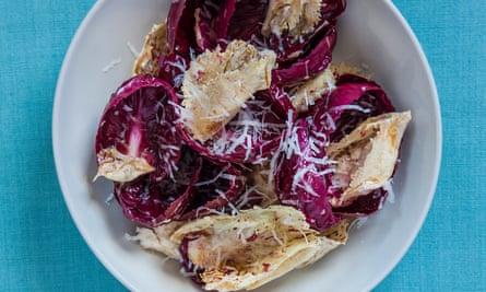 Radicchio salad with manchego vinaigrette.