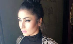 Qandeel Baloch in an image posted to her Facebook page.