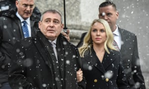 Lev Parnas with his wife, Svetlana