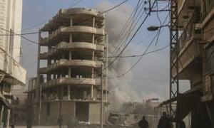 Smoke after an airstrike