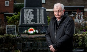 Michael McKinney, whose brother William was killed, by the Bloody Sunday memorial in Derry.