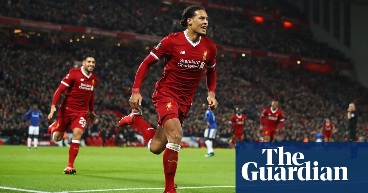 Virgil Van Dijk Crowns Liverpool Debut To See Off Everton In Cup Derby Football The Guardian